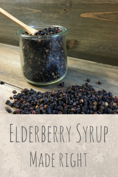 How to make elderberry syrup the right way